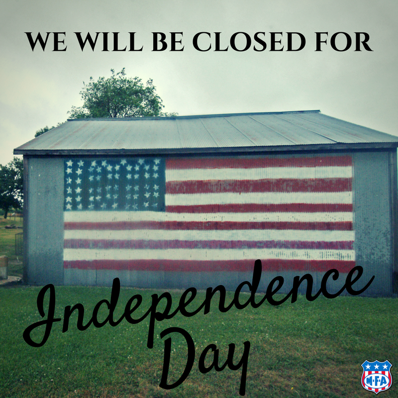 MFA closed on the 4th of July