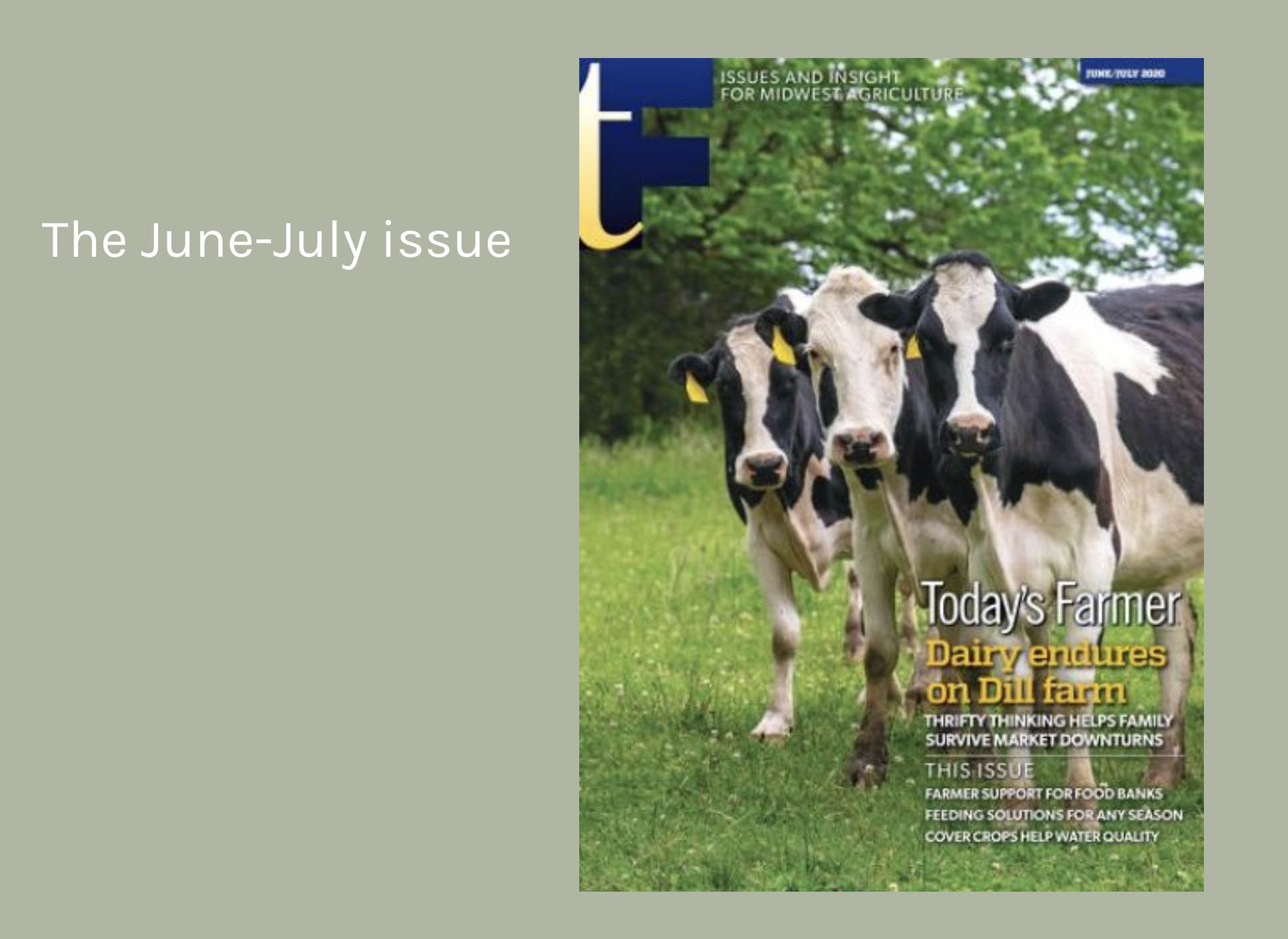 June / July Today's Farmer Magazine hits mailboxes